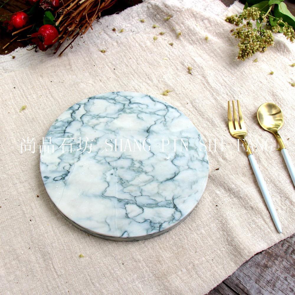 現貨推薦 白綠大理石紋西餐餐墊 隔熱墊 歐美時尚化妝品擺臺珠寶首飾展示盤M18