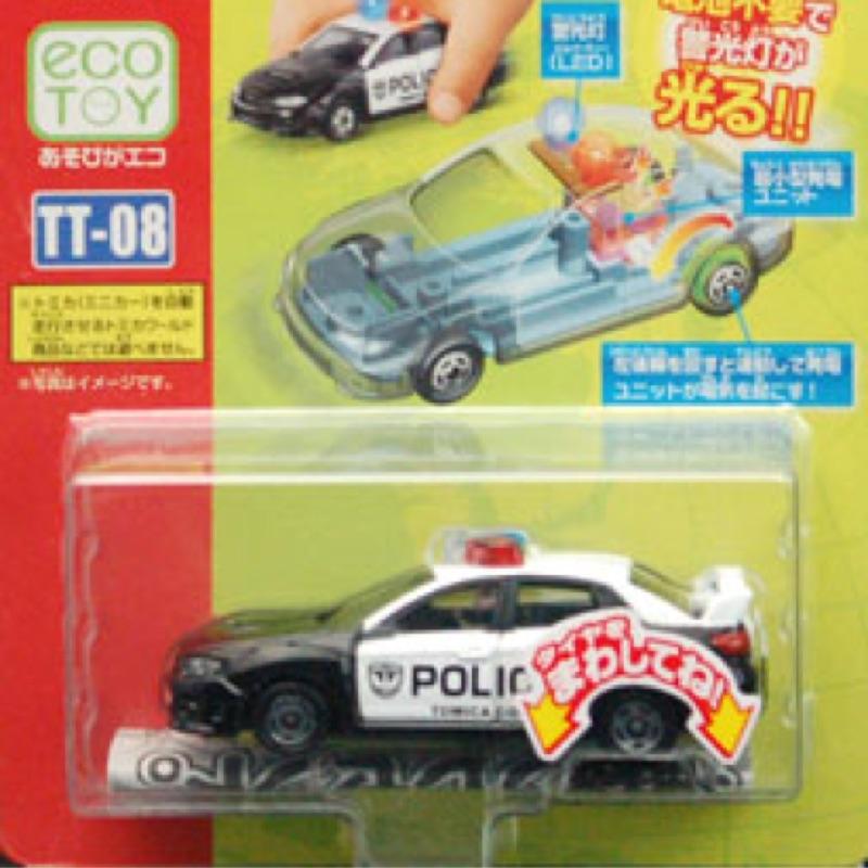 Tomy Tomica TT-08 WRX STI 4Door 發光車 美國警車 非 Plarail