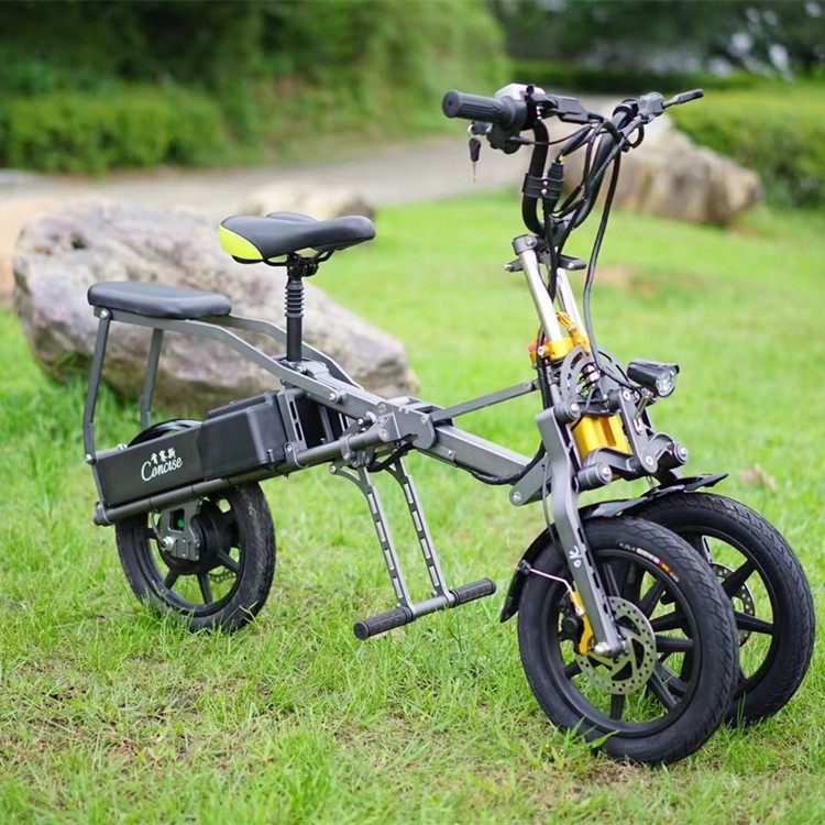 倒三輪電動車 一秒折疊電動自行車、親子車