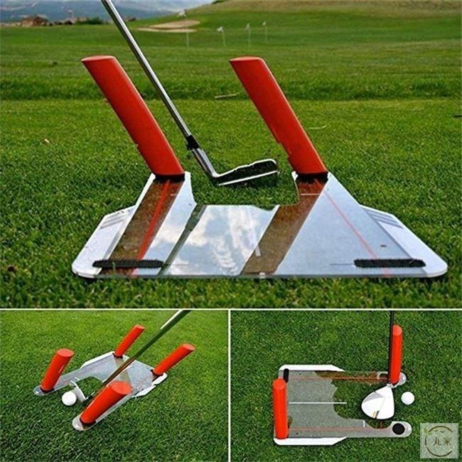 .高爾夫揮桿板練習器一體揮桿教練golf動作矯正器揮桿平面室內訓.