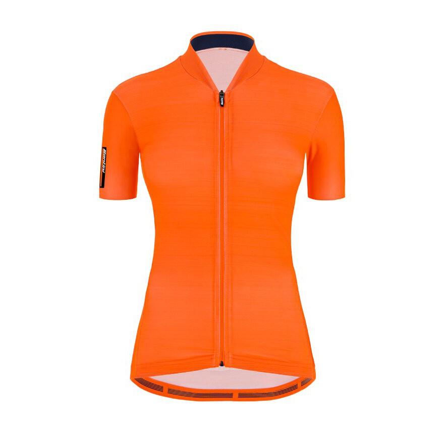 2021 Santini 【色彩】女性短袖車衣- 螢光橘
