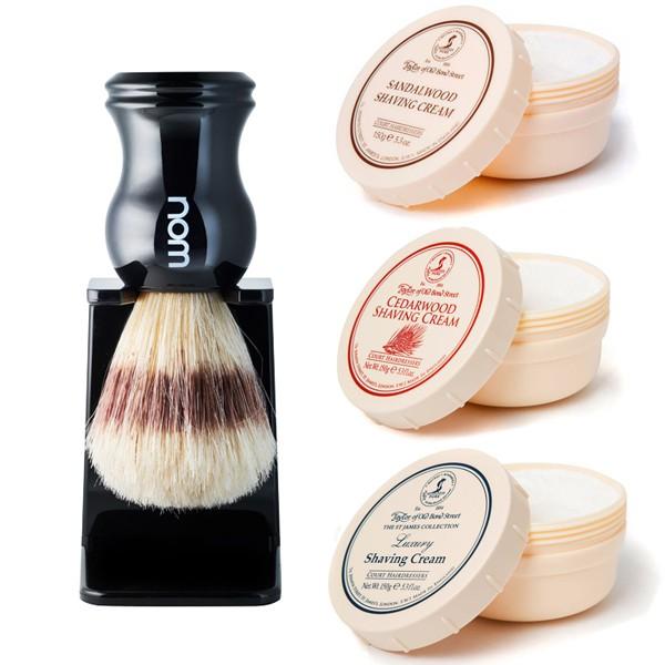 德國 Muhle 刮鬍刷 + 英國 Taylor 刮鬍膏 復古兩件組