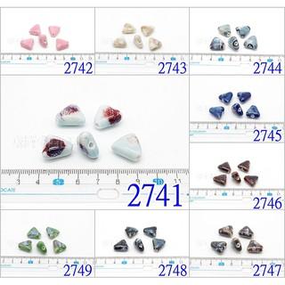 串珠32-1 陶瓷珠 三角珠 2741, 2742, 2743, 2744, 2745, 2746, 2747, 2748, 2749 台中市