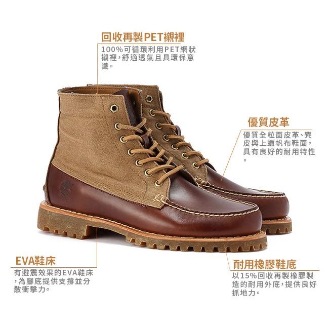 @運動佳族@Timberland 男款麥棕色 雙色綁帶高筒休閒鞋 黃金8號 8.5號