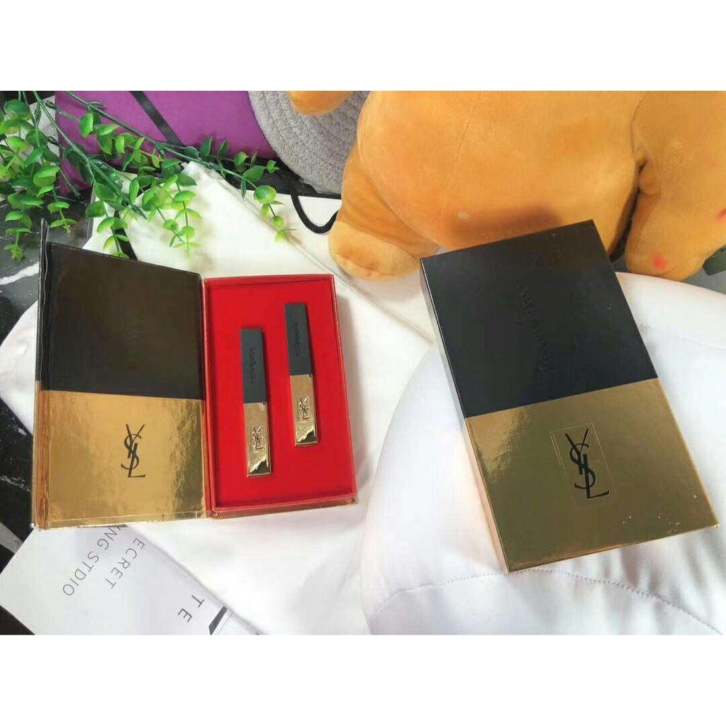 YSL 聖羅蘭 小金條口紅兩件套禮盒裝 口紅禮盒