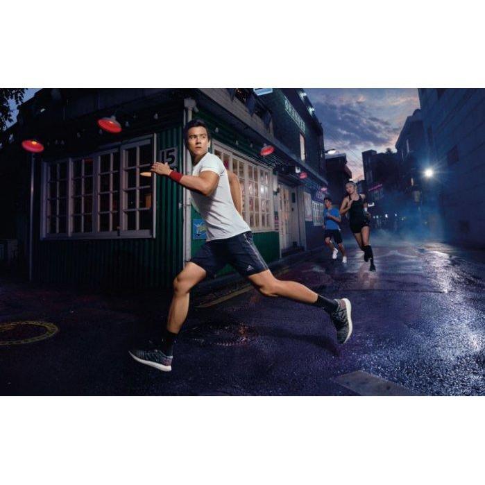 Adidas PureBOOST GO 彭于晏 AH2323 灰紅色 編織 慢跑鞋 透氣 廣告款