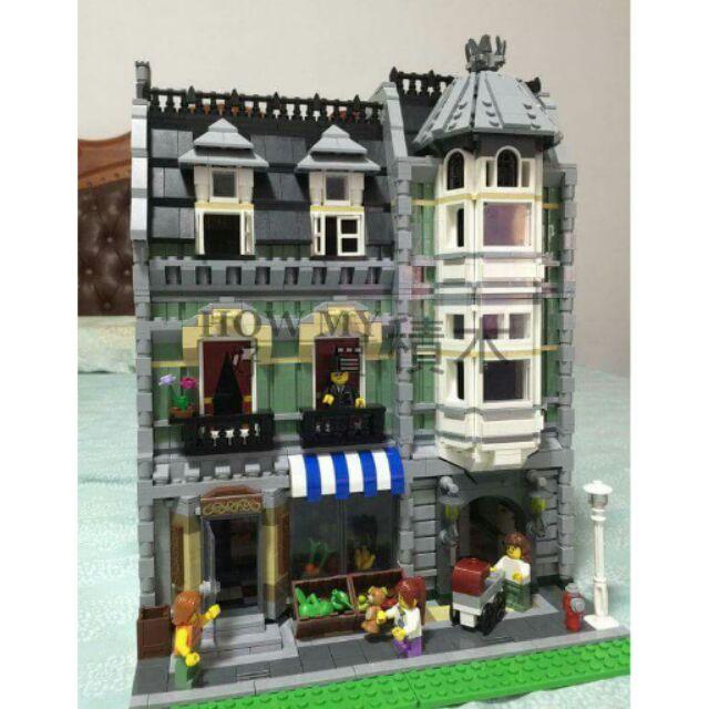 【HOW MY 積木】樂拼15008/綠色雜貨店/街景系列/相容 LEGO 樂高 10185