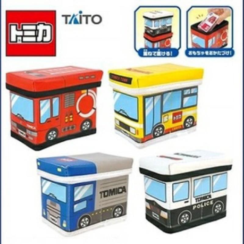 ✨日本空運全新Tomica 小車車 置物盒 收納盒 小型置物盒 桌上收納 小孩玩具 トミカ 警車 卡車 消防車 公車