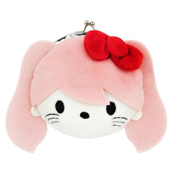 Hello Kitty粉色絨毛臉型口金包/零錢包/收納包/今日最便宜/貨到付款/現貨/禮物