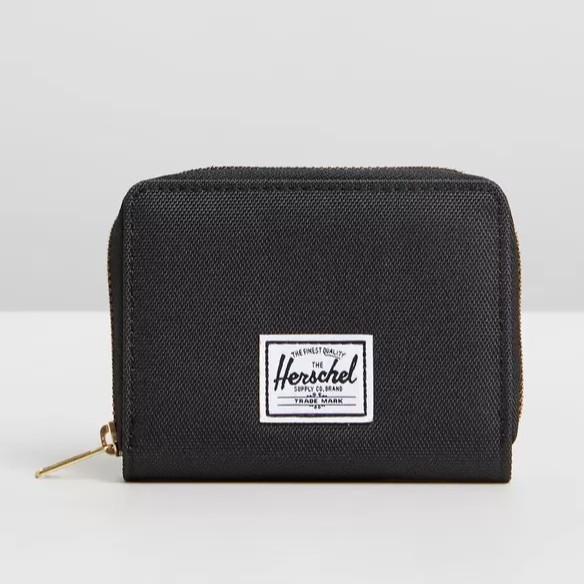 Herschel Tyler 黑色 全黑 灰黑 灰色 零錢袋 RFID 防盜 帆布 金屬 拉鍊 零錢包 錢包 現貨