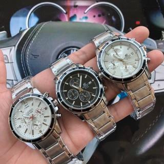 casio 卡西歐 男士精品腕錶 三眼六針多功能計時跑秒手錶 進口石英機芯手錶 男錶 錶帶可換皮錶帶 臺北市