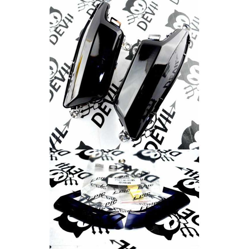 惡魔騎士精品 前方向燈殼 前方向燈組 前方向燈+小燈 日行燈 貼片 四代勁戰 四代戰 勁四 新勁戰四代 黑色