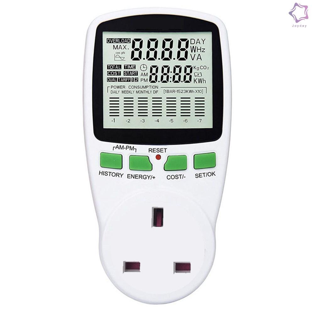 數字瓦特功率表電錶電壓表功率測量插座室內倒數計時器插座接地