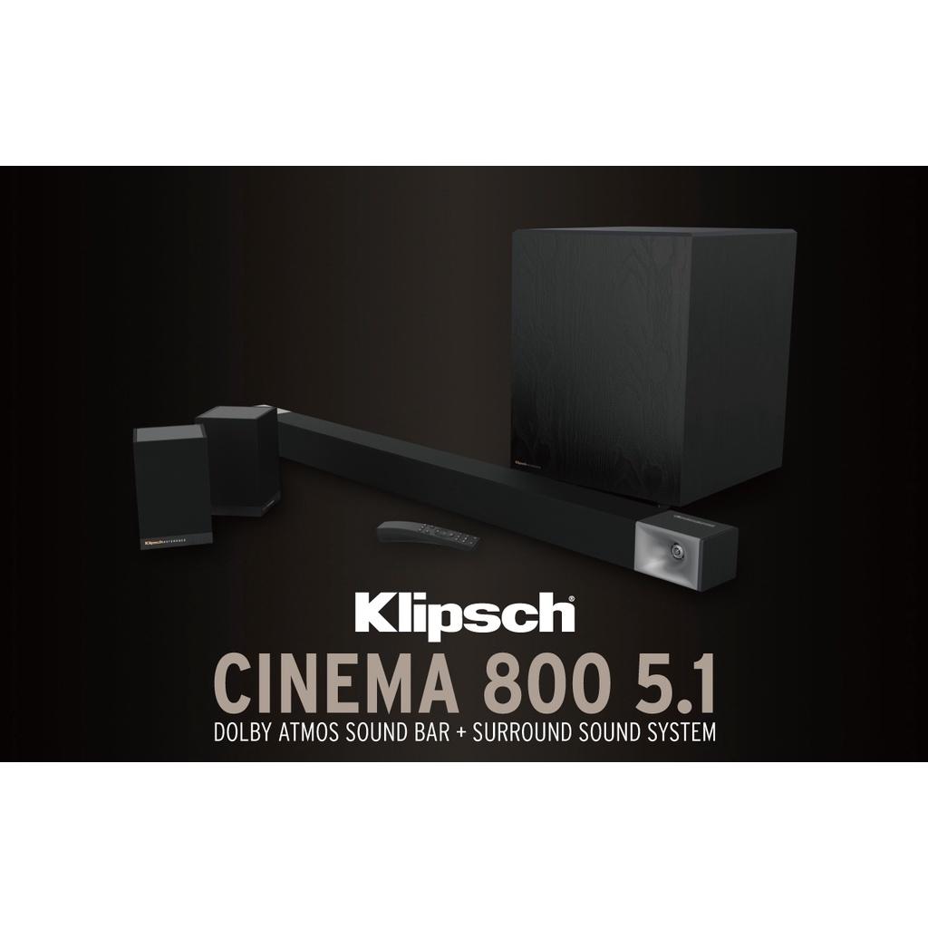 【公司貨】Klipsch Soundbar Cinema 800 5.1 Dolby Atmos家庭劇院