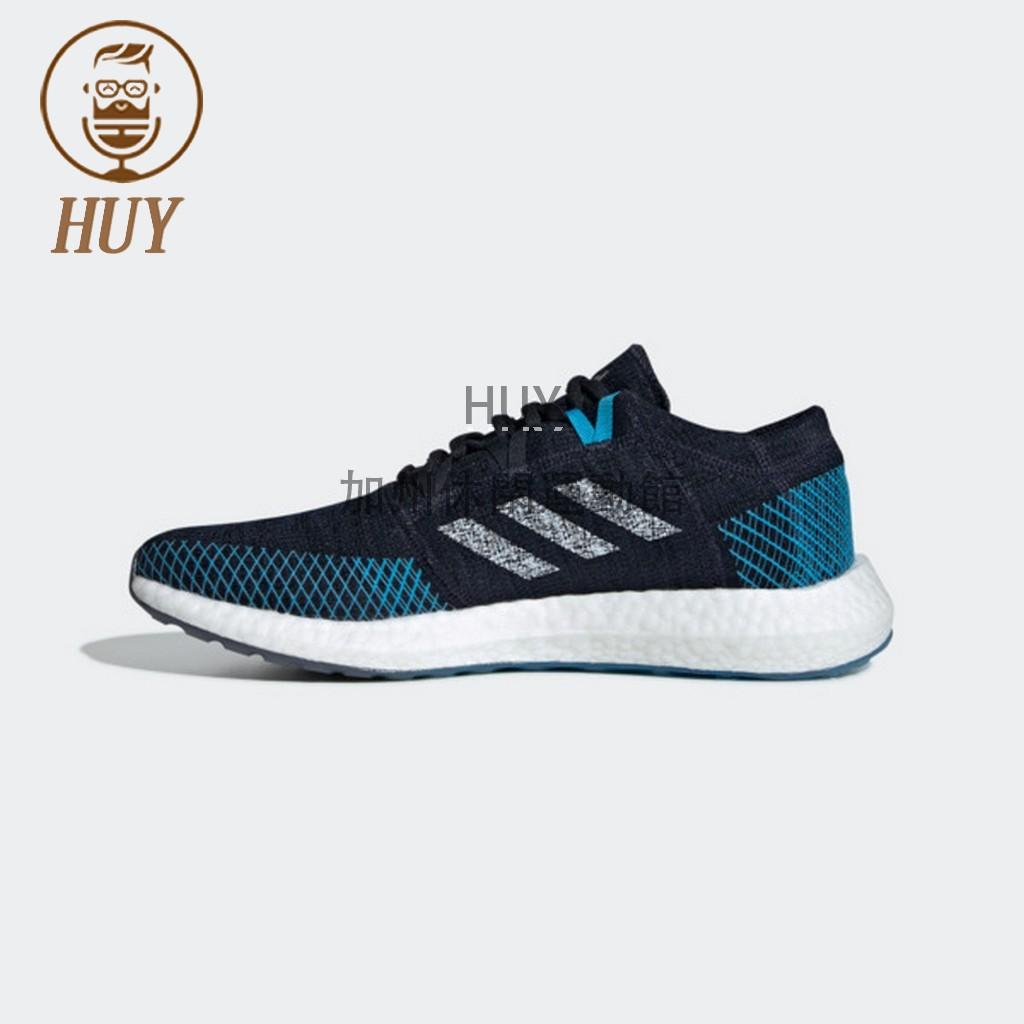 Adidas PureBoost Go 男鞋 運動 休閒 慢跑 輕量 避震 舒適 愛迪達 黑藍 [EE4675]