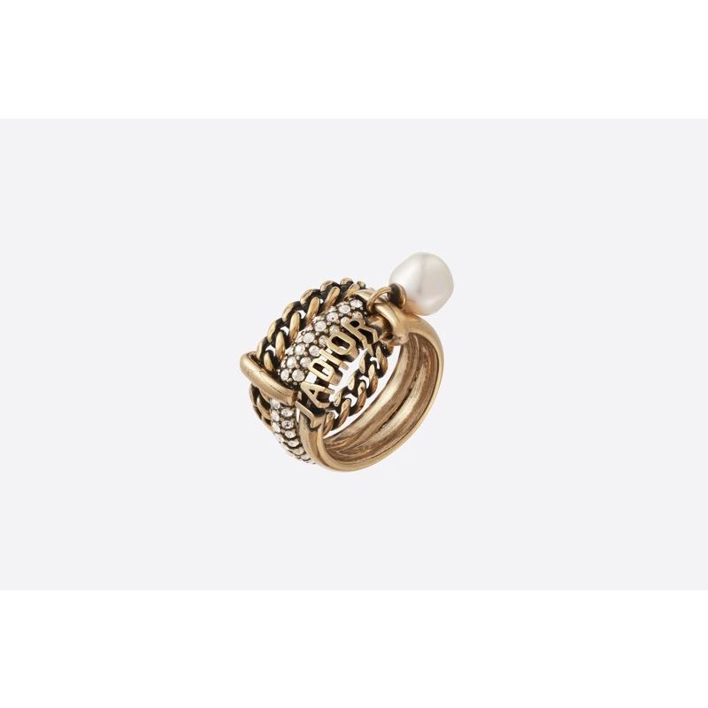 Dior jadior 戒指 三環 尺寸M 法國專櫃購入 僅擺置