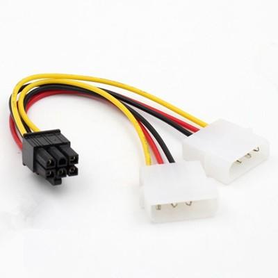萊特 電腦零組件 大4PIN 轉 雙6PIN 電源轉接線 顯卡電源轉接線 NZXT GTX1080
