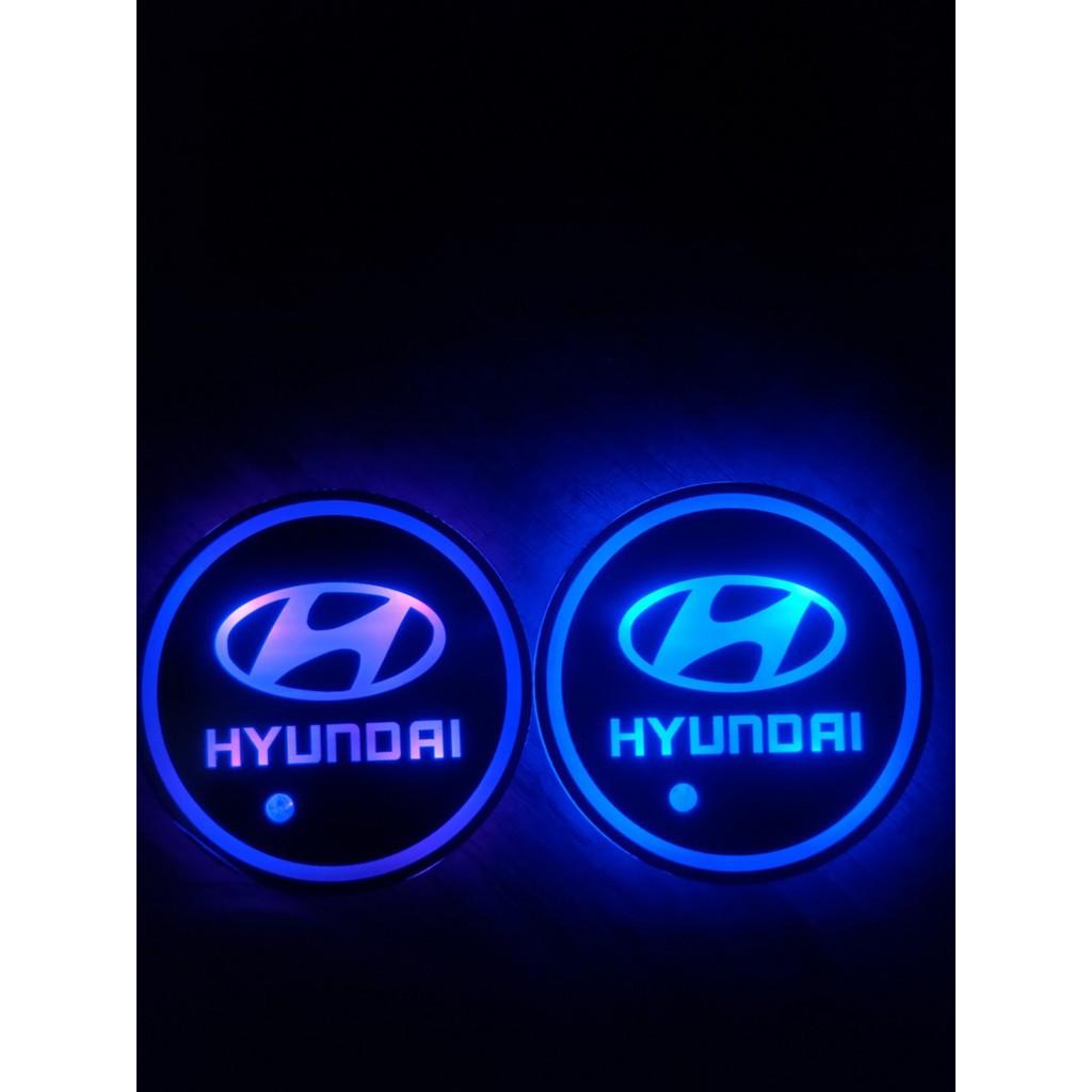 現代 HYUNDAI Elantra Hbrid Tucson Ioniq LED水杯墊氣氛燈 水杯氣氛燈  發光水杯墊
