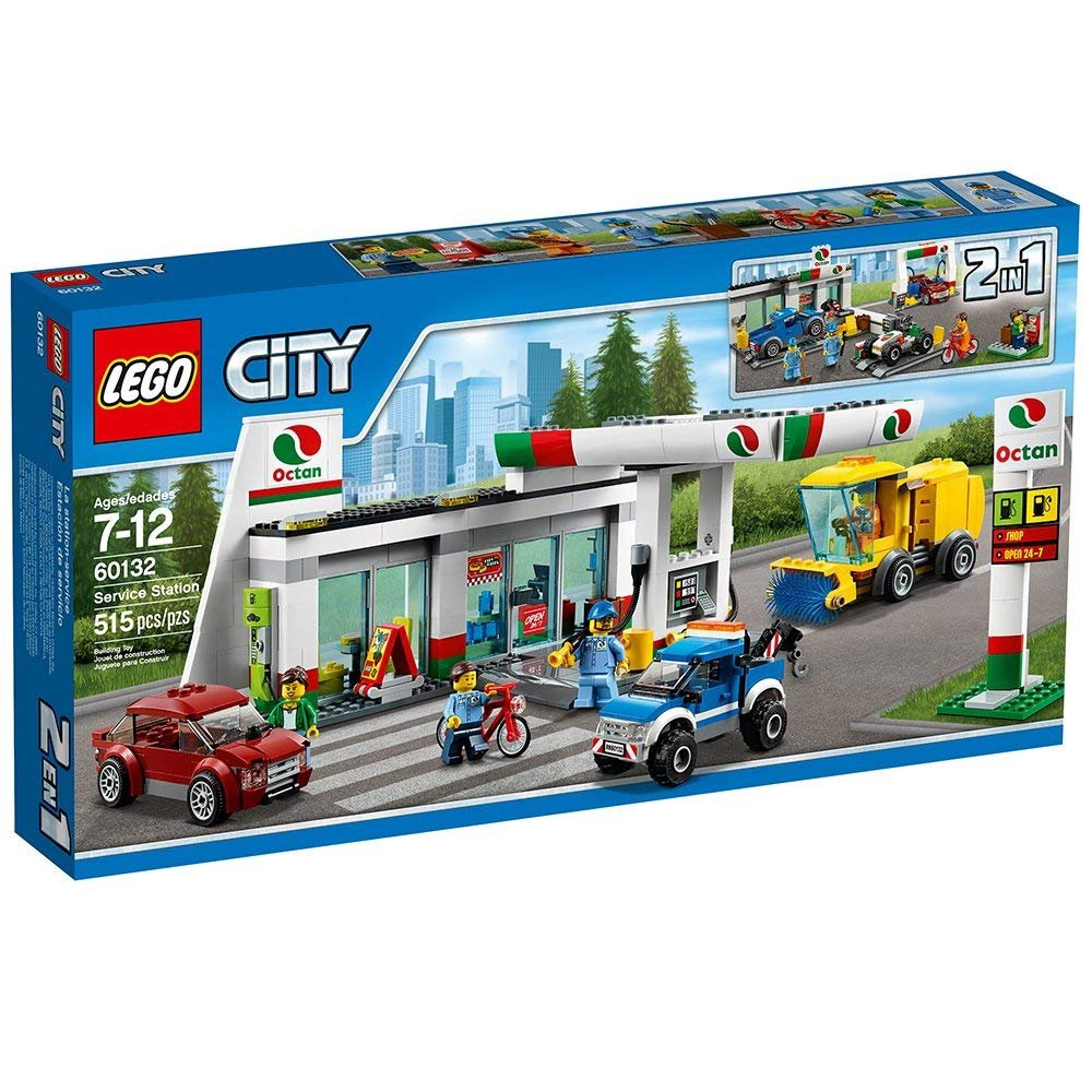 LEGO 樂高 City 城市系列  Service Station 加油維修站 60132