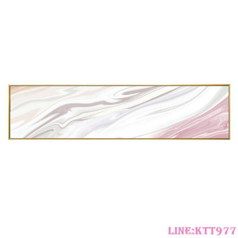 現代簡約臥室裝飾畫婚房主臥房間掛畫溫馨粉色抽象床頭背景墻壁畫