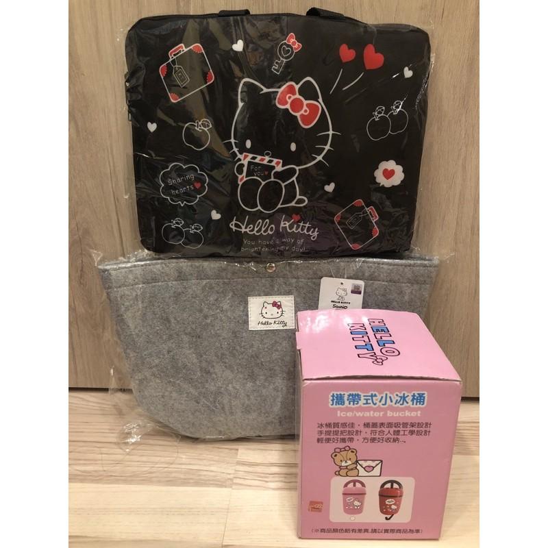 Hello Kitty組合包(手提袋+13吋手提電腦包+攜帶式小冰桶)