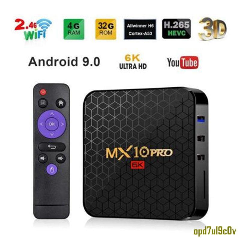 精品特惠//MX10 PRO h6電視盒 4GB+64GB 安卓9.0 6K智能網絡播放器 tvbox