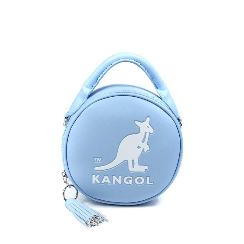 KANGOL 側背包 圓型包 手提 淺藍色 6055301181 noC21