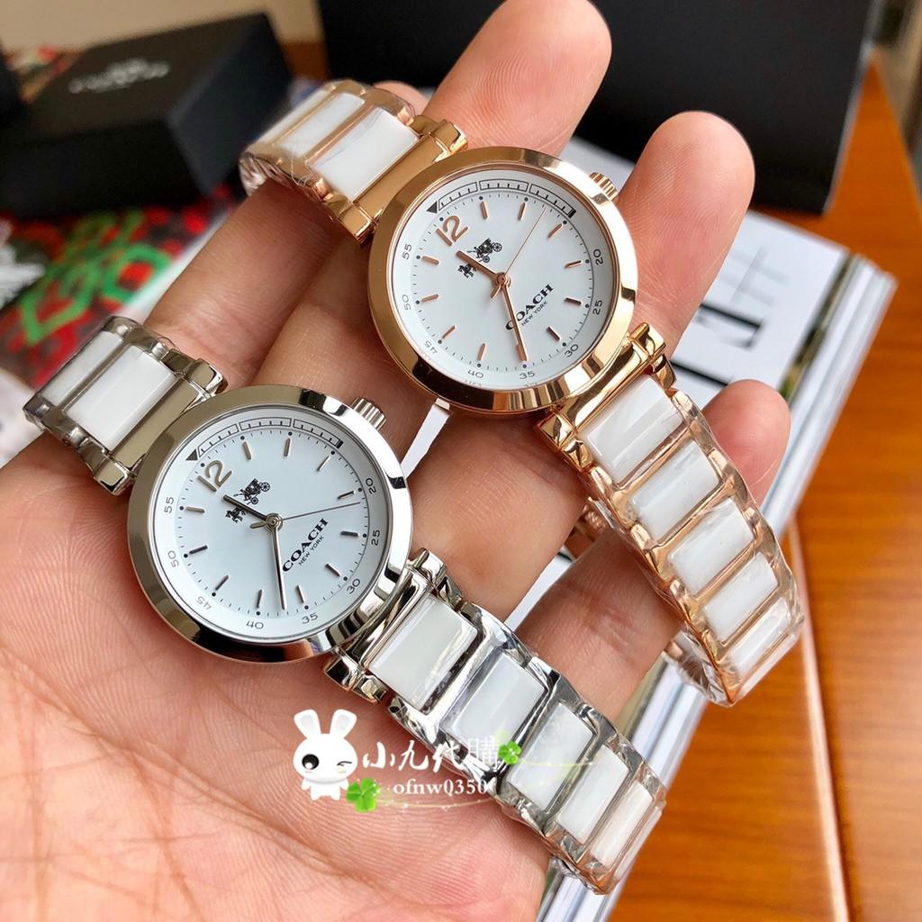 小九代購🍁  COACH 手錶女 女士手錶  鋼帶石英手錶 滿天星 輕奢時尚 情侶手錶 coach手錶  手錶 女神手錶