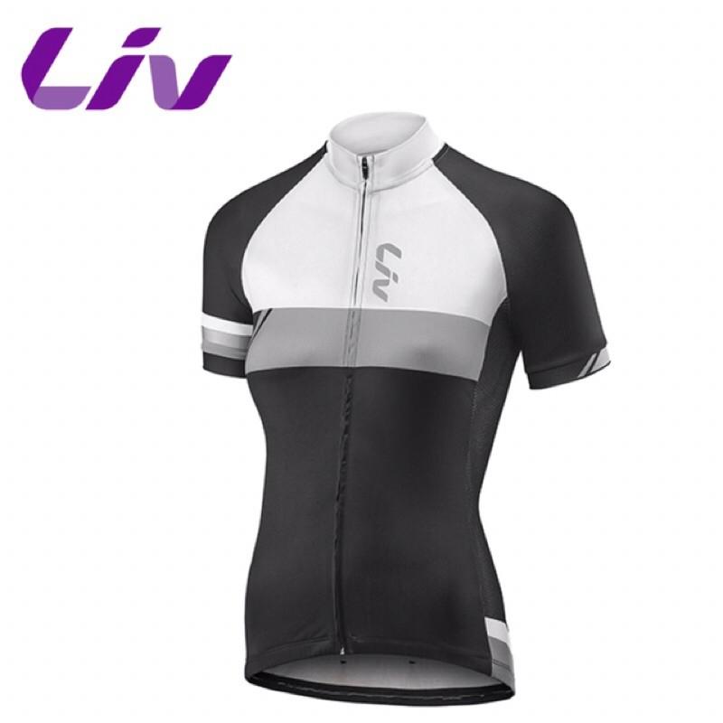 拜客先生-【GIANT】捷安特 Liv Capitana Ss Jersey 短袖車衣 M 黑白