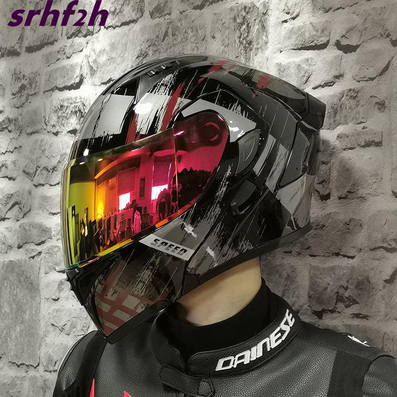 熱銷 ORZ 摩托車 頭盔 全盔 跑盔 個性 酷全 覆式 機車 男女 四季 通用 安全帽 網紅