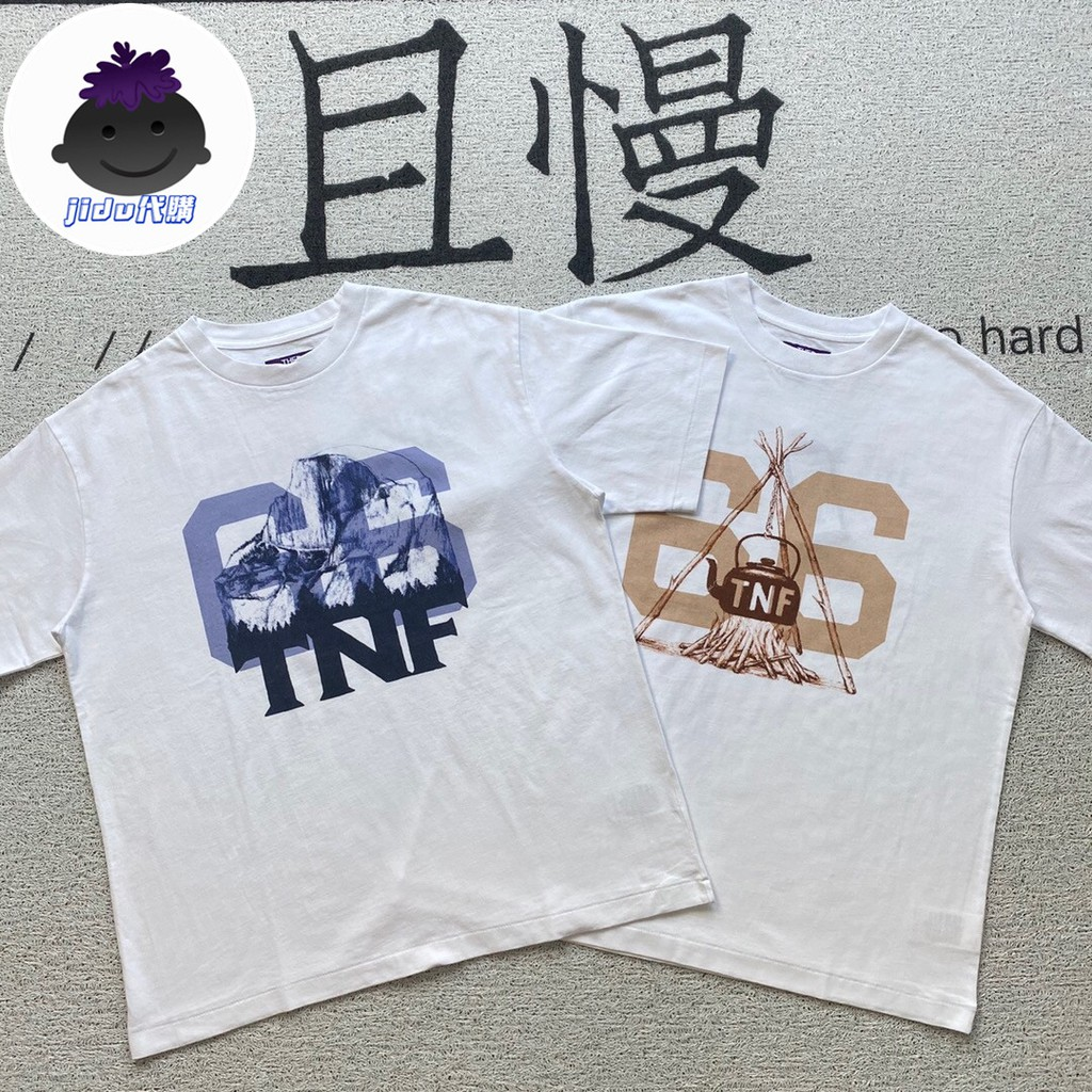 The North Face紫標雪山篝火短袖Tee 男女款