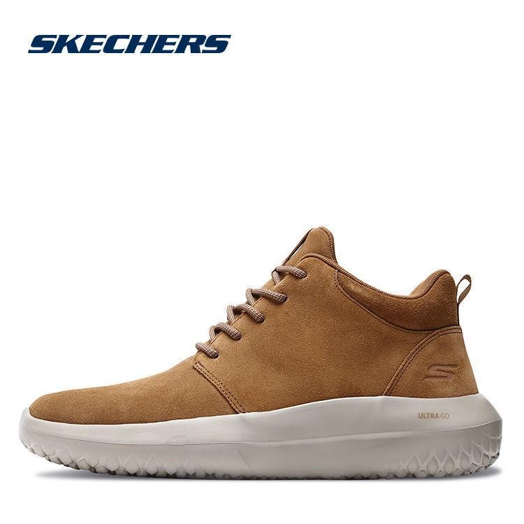 熱賣Skechers斯凱奇情侶鞋男子反毛皮休閑靴減震運動鞋健步鞋18536