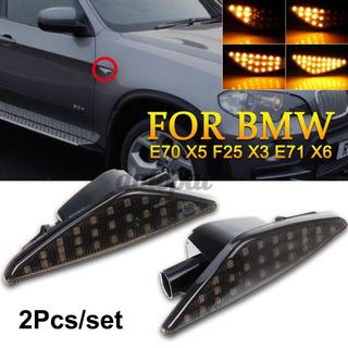 2×順序動態流動LED側標記為BMW E70 X5 F25 X3 E71 X6 2007-2013