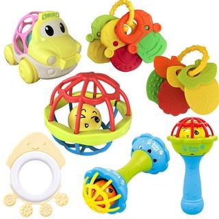 嬰兒手抓球搖鈴健身軟膠手搖鈴 魚串牙膠嬰幼兒0-1歲益智玩具直銷