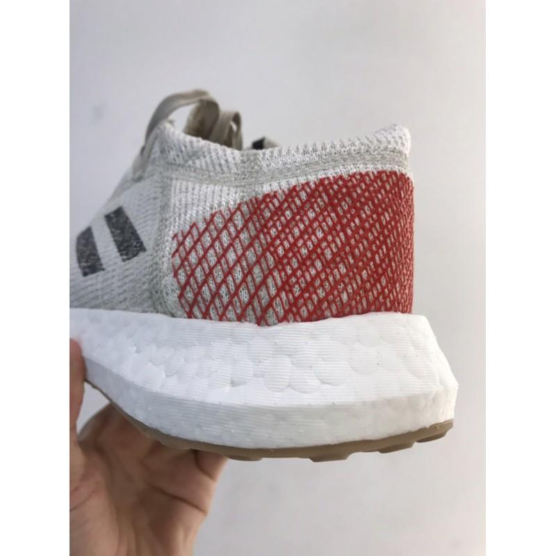 adidas男慢跑鞋 B37805 pureboost go 白紅