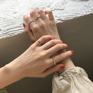 Bene 戒指套裝 8 件套簡約韓國時尚幾何形狀戒指,  適合女性女孩時尚珠寶禮物銀金戒指 Cincin
