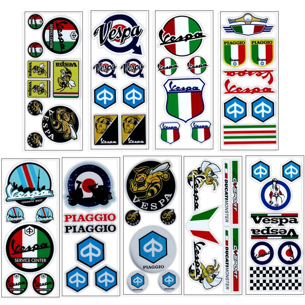 適用於 Piaggio VESPA GTS  LXV LT PX PRIMAVERA 125 150 200反光貼紙貼花