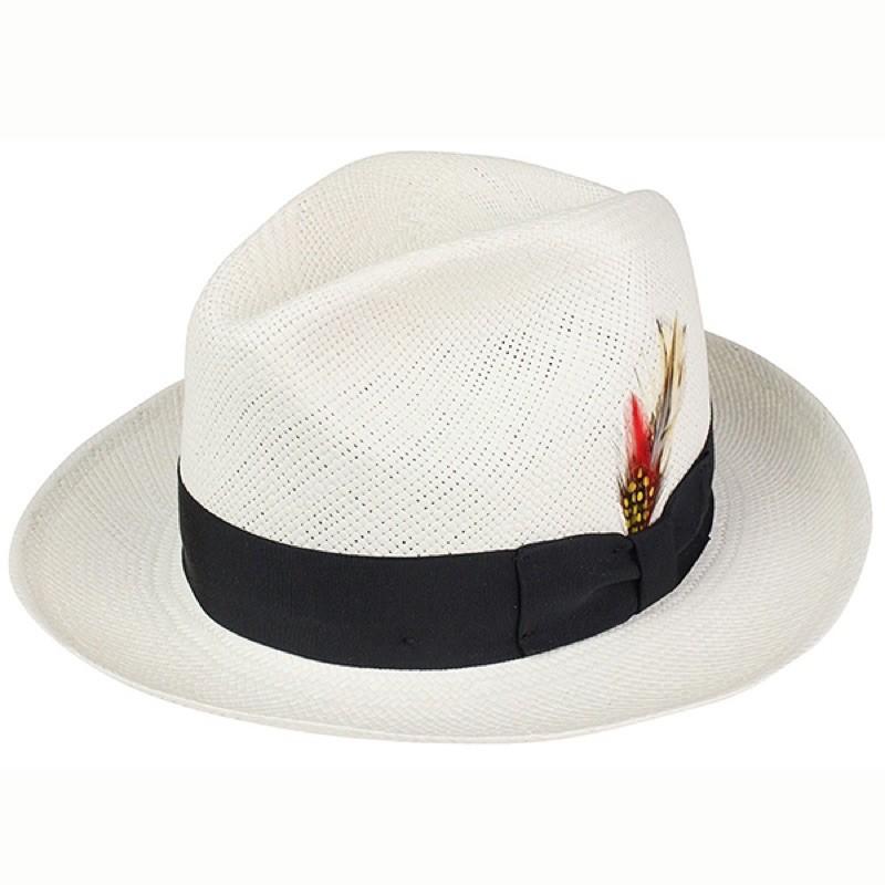 美國 NEW YORK HAT - PANAMA FEDORA 頂級手工 巴拿馬草帽 - NATURAL 米白