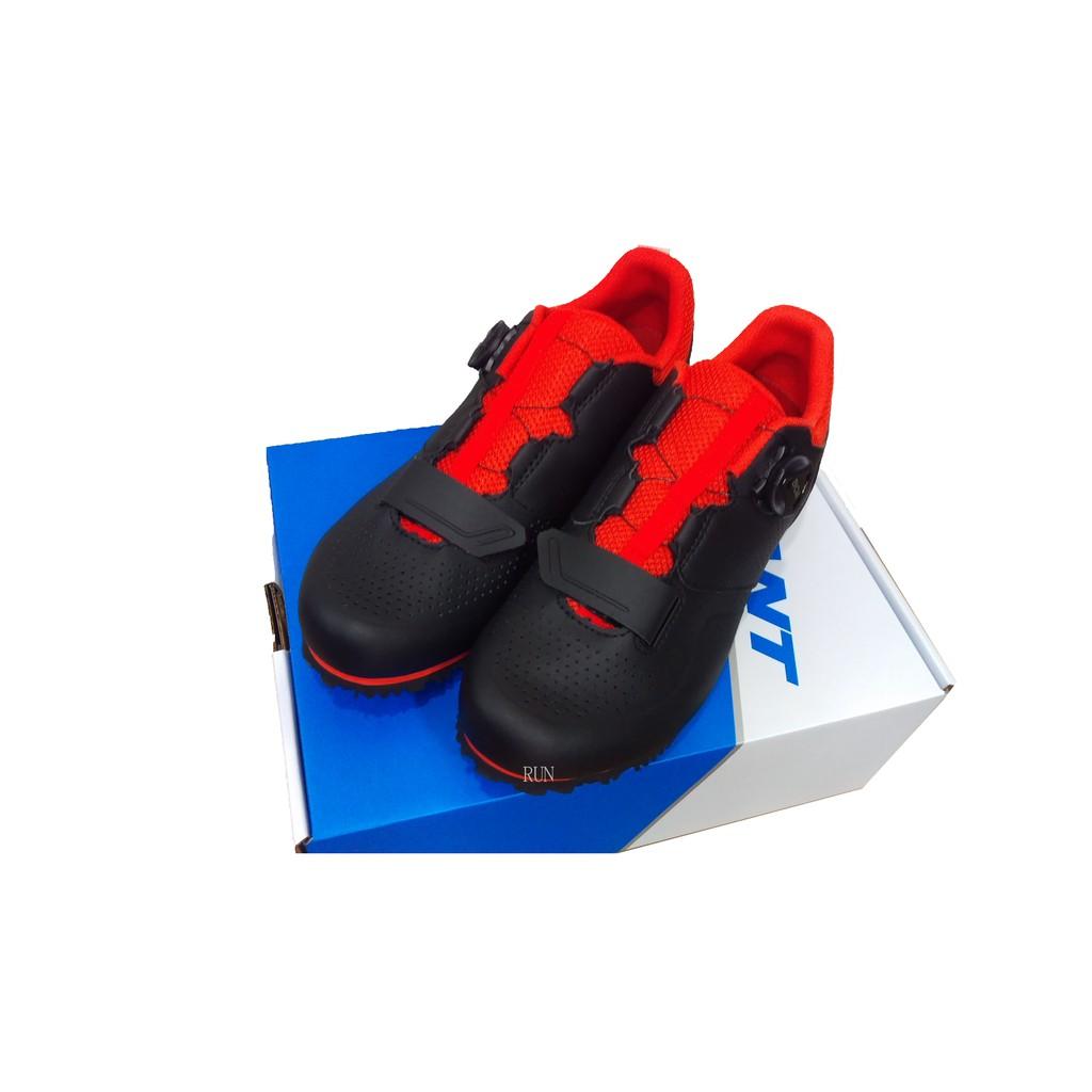 全新 2019 新色 GIANT 捷安特 PRIME 自行車專用硬底鞋(Boa旋鈕) 第二代全新到貨 黑紅色