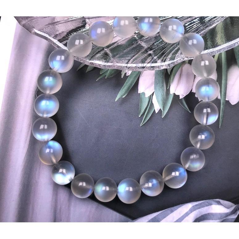 【佳鈺】天然藍月光 6A一級品 6A奶油體 藍光 藍月光石 手珠 手鏈 時尚飾品 情人石 友誼石 改善氣質 禮品