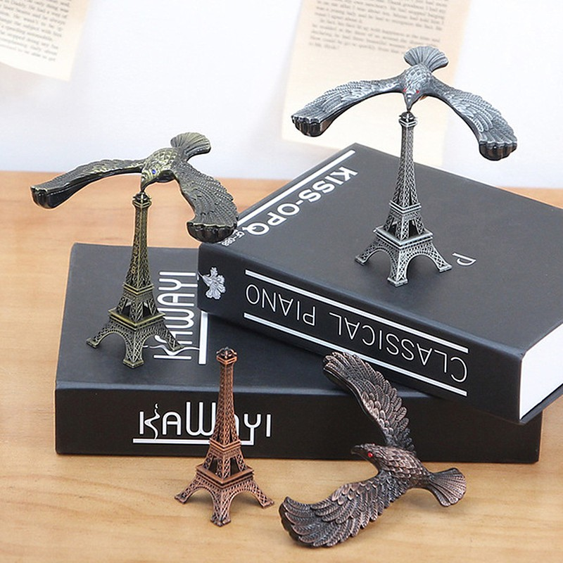 (cpc)創意金屬平衡老鷹模型地標建筑擺件鐵藝埃菲爾鐵塔玩具禮物工藝y