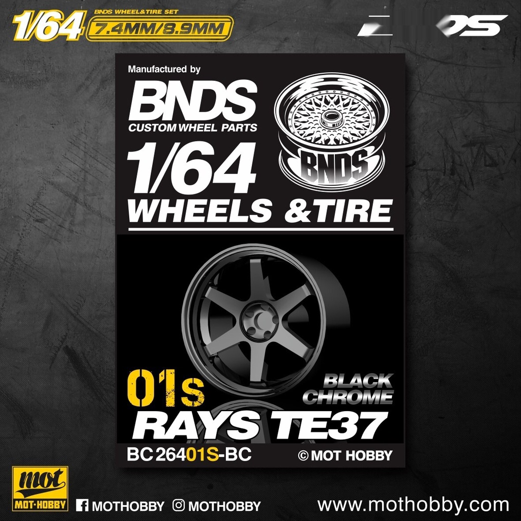 [現貨] BNDS 1:64改裝輪轂BC26401S多種顏色車模配件附帶輪胎輪軸