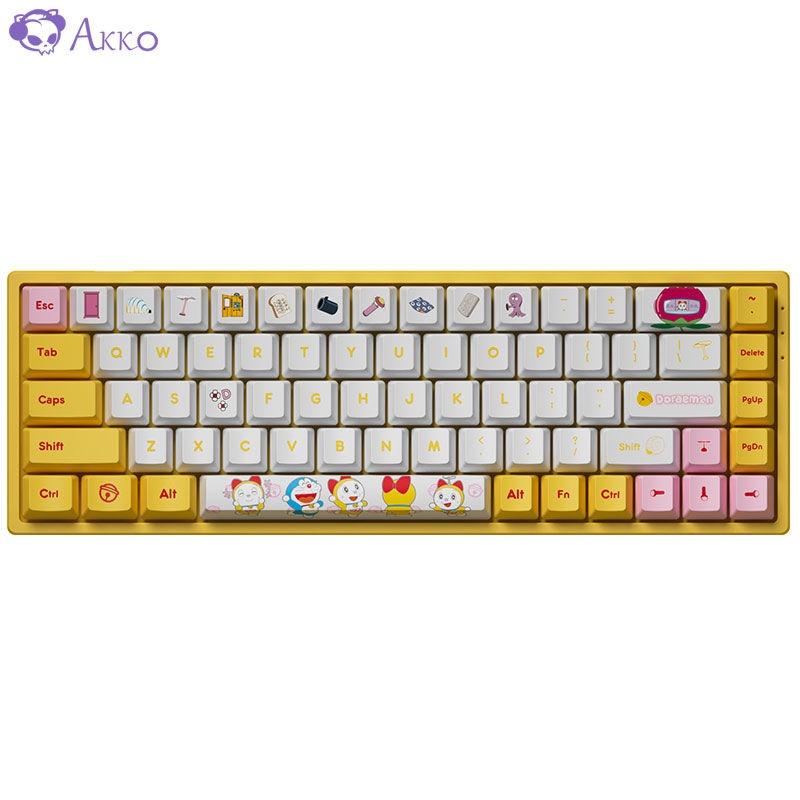 ✟☁AKKO 3068 哆啦A夢/哆啦美 藍牙 5.0雙模RGB機械鍵盤無線有線鍵盤