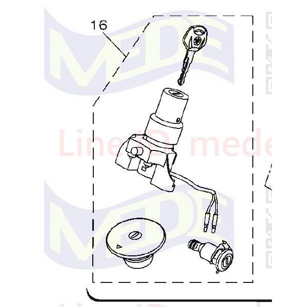 ~MEDE~ YAMAHA FZS V3 FZ150 v3 ABS 印度版 鎖頭總成 含 油箱蓋 鑰匙 龍頭鎖 坐墊鎖