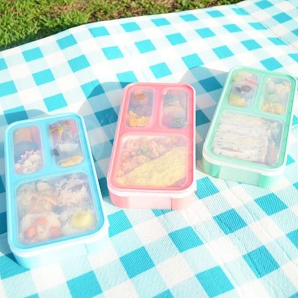 【日本CB Japan】巴黎系迷你薄型野餐盒400ml (共3色)《屋外生活》便當盒 午餐盒 點心盒