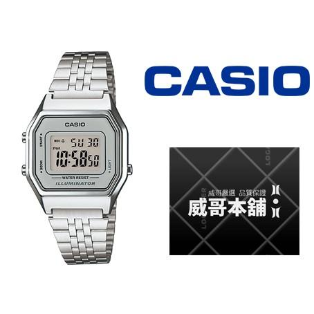 【威哥本舖】Casio台灣原廠公司貨 LA680WA-7 復古經典女電子錶 LA680WA
