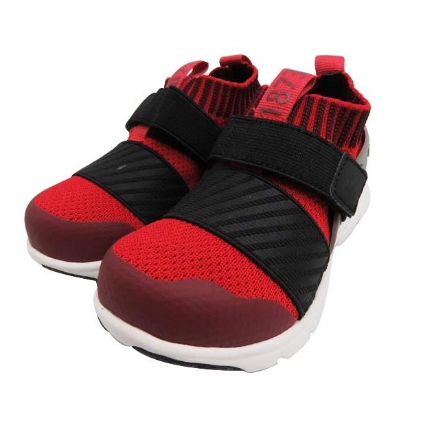 (2021/09現貨)日本Moonstar機能童鞋-HI系列襪套忍者鞋款(紅色)-(另有黑/藍/粉 3色可選)