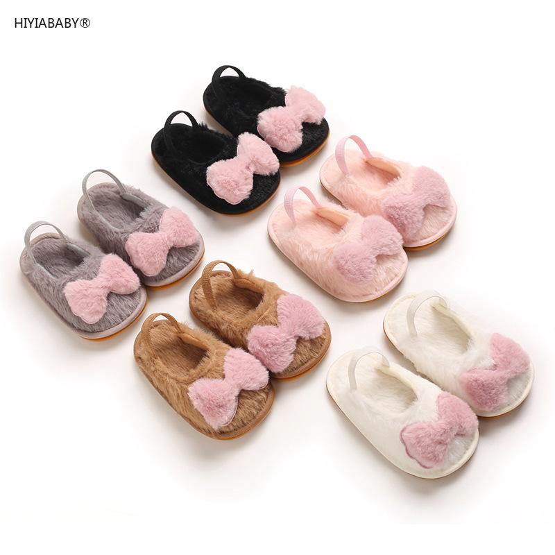 春秋0-1歲女寶寶毛絨棉鞋防滑膠底嬰兒學步鞋