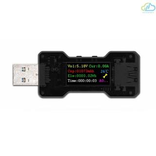 A  FNB18 USB測試儀電壓電流容量電量計時表電源測試檢測儀指示燈USB3.0彩屏多功能安全檢測儀