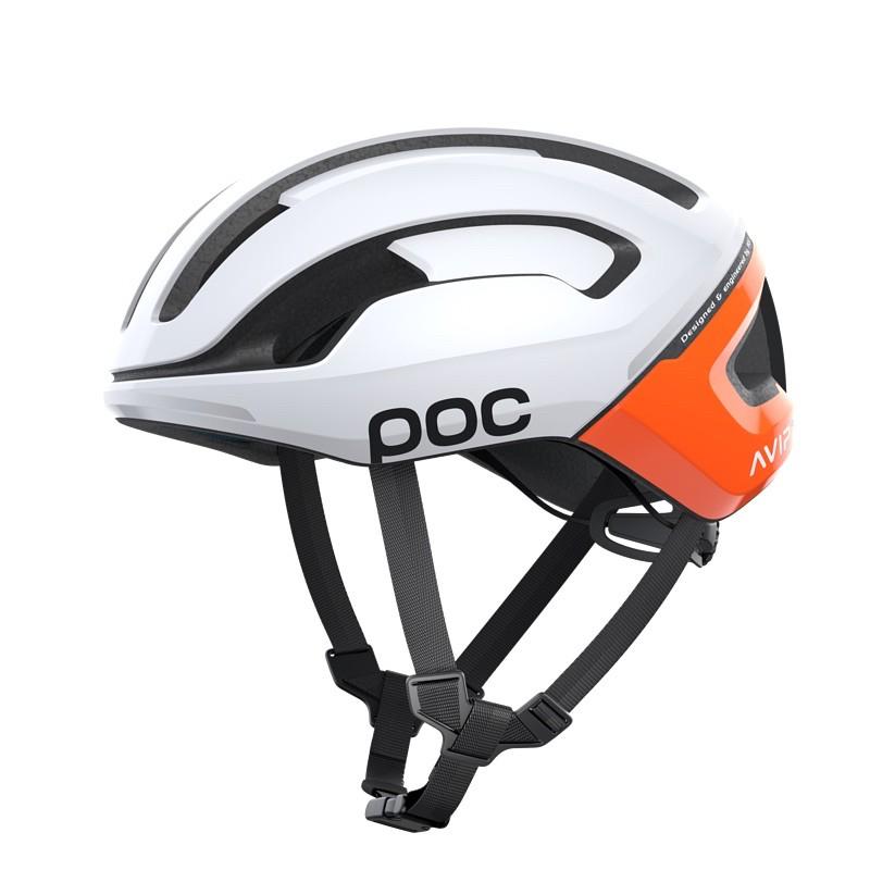 寬版/POC Omne Air WF Spin 寬版安全帽(亮光白/橘AVIP) 自行車 / 直排輪 都適用 台灣公司貨